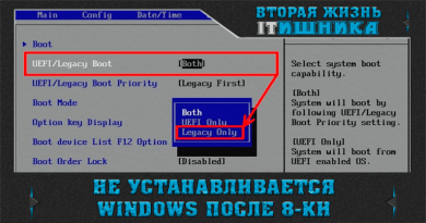 Не устанавливается Windows. Настройка BIOS