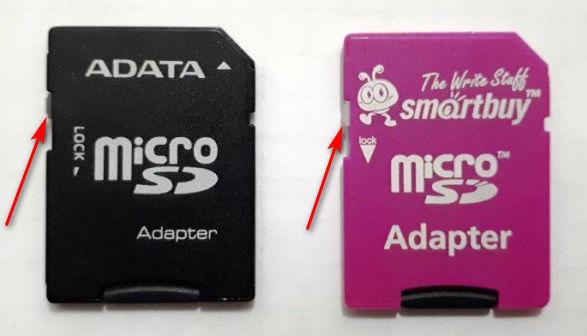Как снять защиту с SD карты