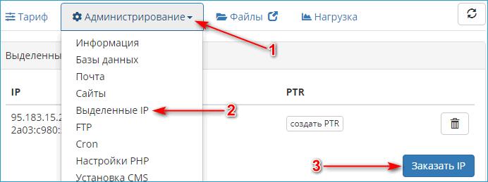Выделенный IP для сайта