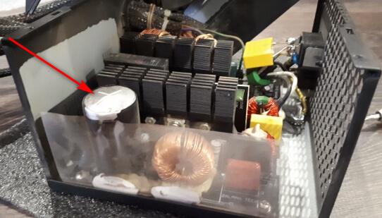 Вздутый конденсатор в блоке питания
