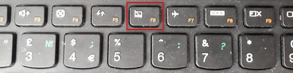 Клавиша с иконкой тачпада F6