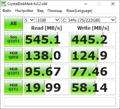CrystalDiskMark - тест скорости SSD