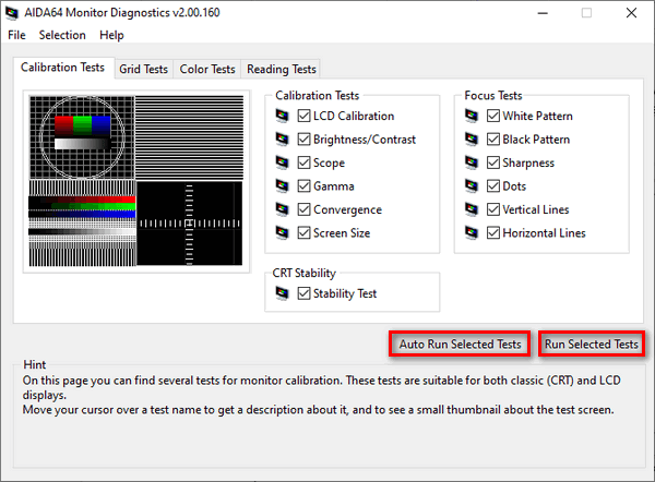 Тест LCD-мониторов в AIDA64