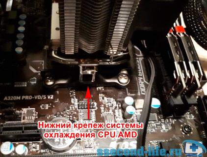 Крепеж процессора AMD