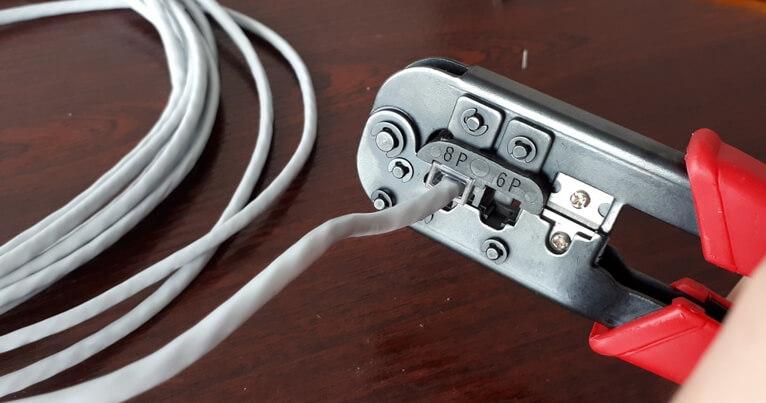 Обжим кабеля