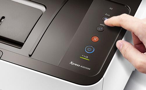 Кнопка WPS на принтере