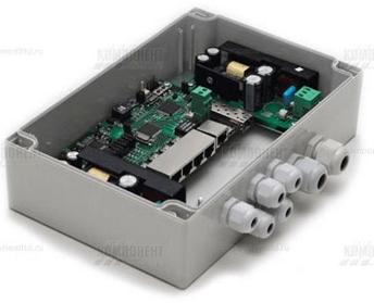 Коммутатор TFortis с PoE для систем уличного цифрового видеонаблюдения
