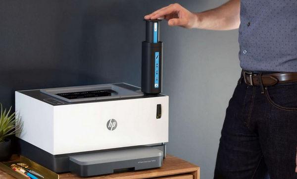 Заправка тонера в HP Neverstop за 15 секунд